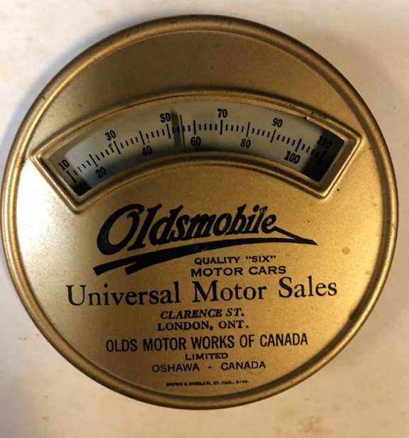 Vintage Oldsmobile Advertising Thermometer