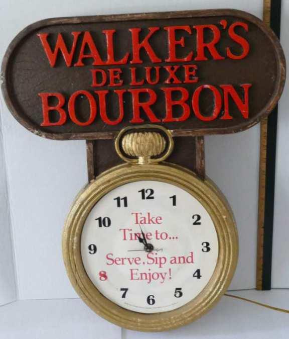 Walkers Deluxe Bourbon Advertising Sign