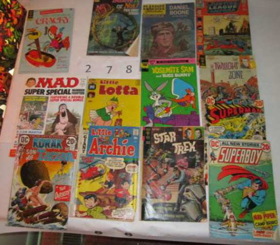 13 comic books