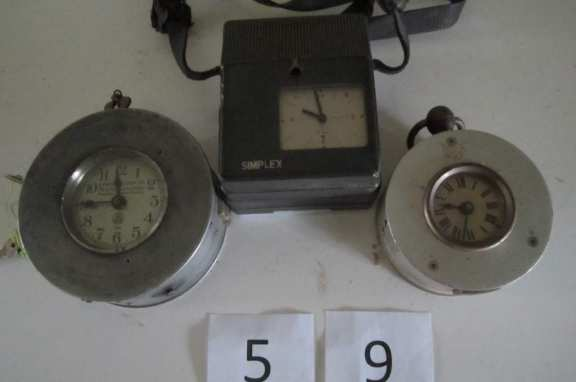 3 night watchman's clocks