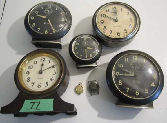 5 alarm clocks & 2 watches