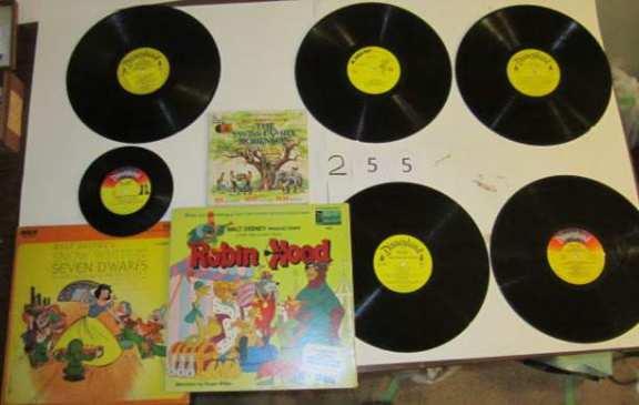 5 Disney albums + 2 45 records