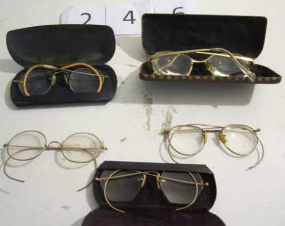 5 pairs old reading glasses