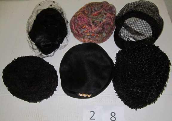 6 vintage hats