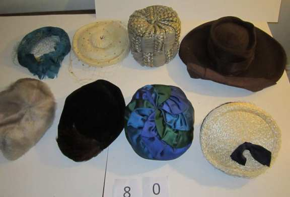 8 vintage hats