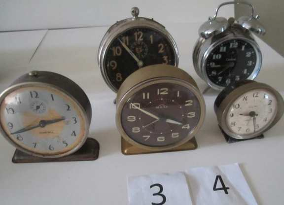 Assorted alarm clocks