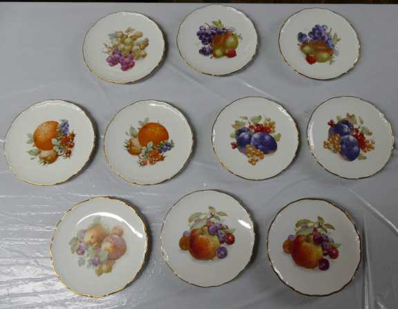 Bavaria Gold Rimmed Plates Lot of 10