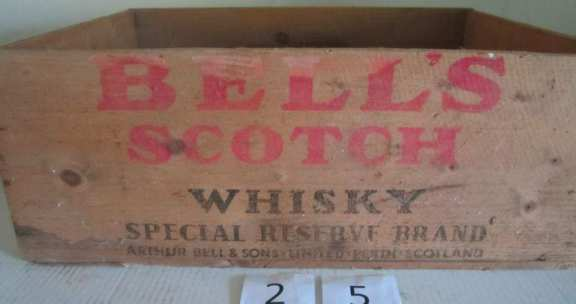 Bell's scotch whiskey wooden box