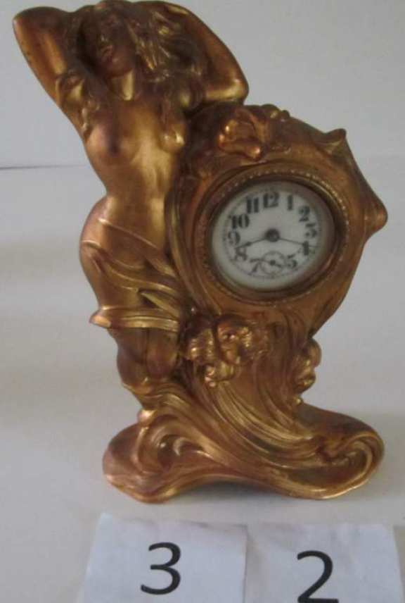 Bronze novelty clock
