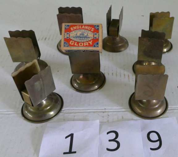 Lot of Brass Match Book Holders