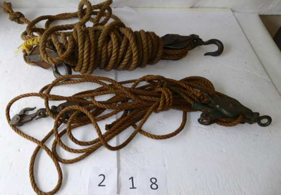 Old Rope Block and Tackle