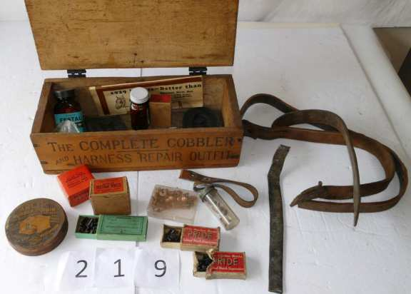 "Old Wooden Box -""The Complete Cobbler """