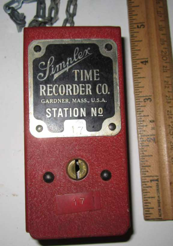 Simplex time recorder station