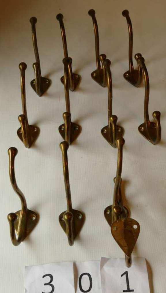 Solid Brass Vintage Coat Hooks