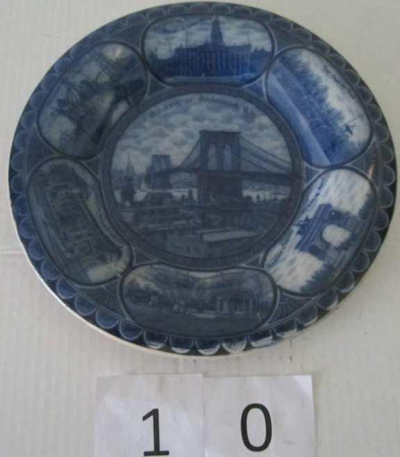 Souvenir plate of Brooklyn NY