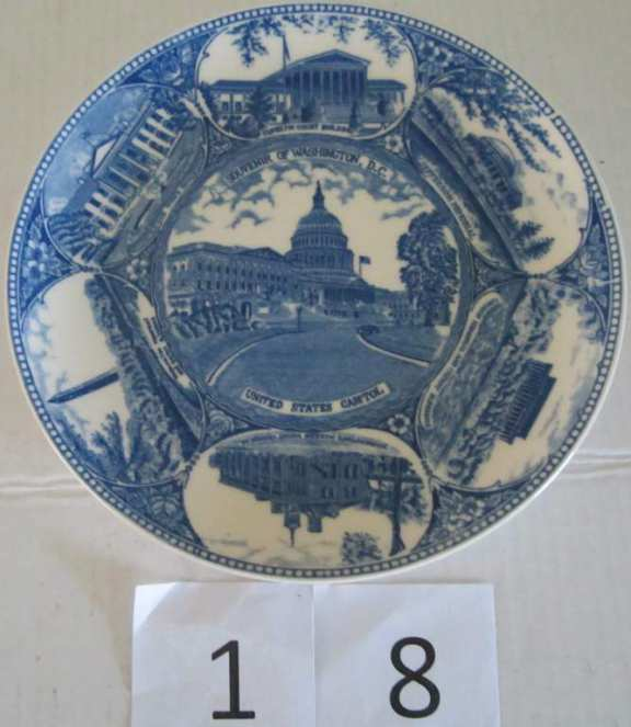 Souvenir plate Washington DC