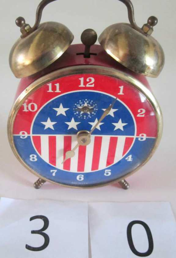 USA Stars & Stripes alarm clock