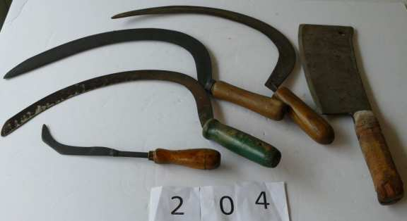 Various Antique Cutting Tools