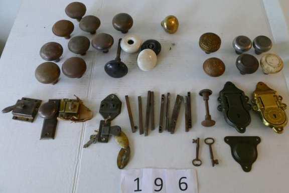 Various Vintage Door Parts