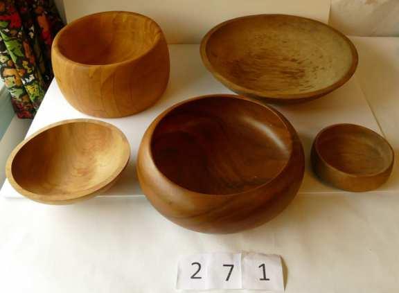 Various Wooden Bowls
