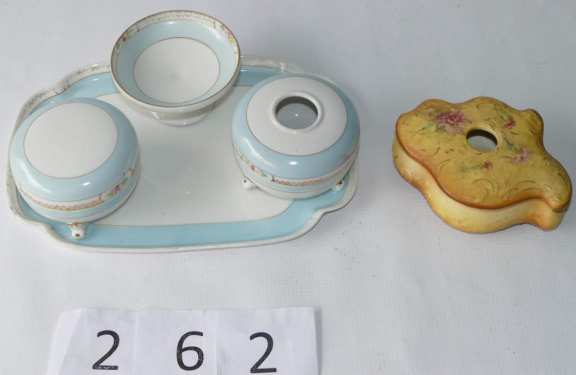 Vintage China Dressing Table Accessories