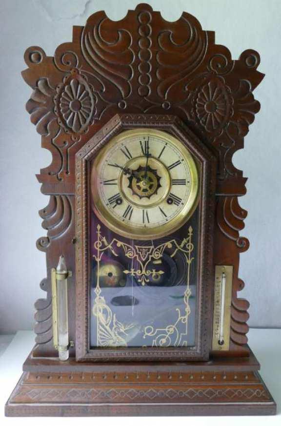 Walnut Waterbury 8 Day Shelf Clock