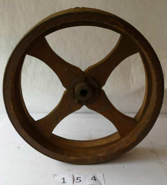 Wooden Pulley with Belting attached